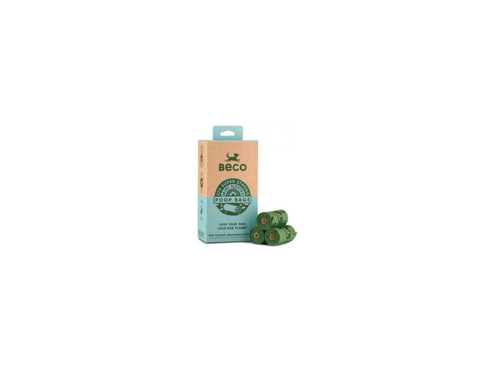 Sáčky na exkrementy Beco, 270 ks, s peprmintovou aroma, ekologické