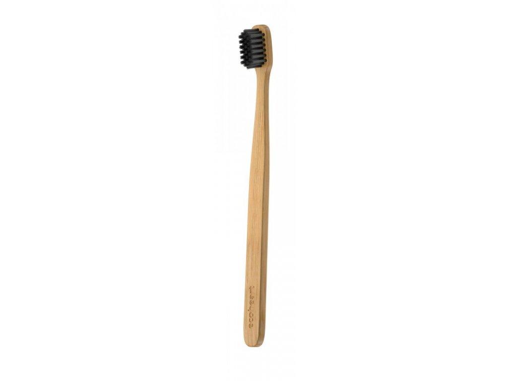 Ecoheart Bambusový kartáček (extra soft) - černý