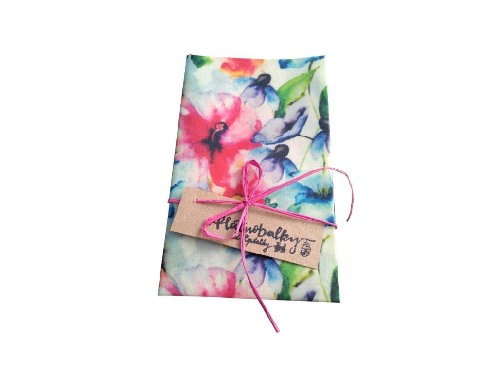 Voskovaný ubrousek Hrabě (L) | květy
