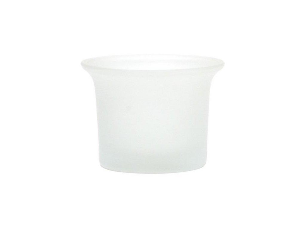 Svícen sklo 49x63 mm na čajovou svíčku matný