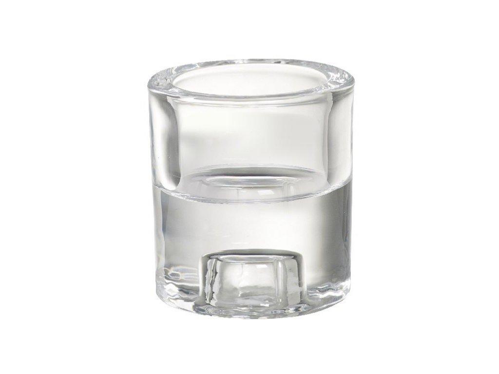 Bolsius Svícen sklo 60x65 mm 2v1 na Čajovou a kónickou svíčku