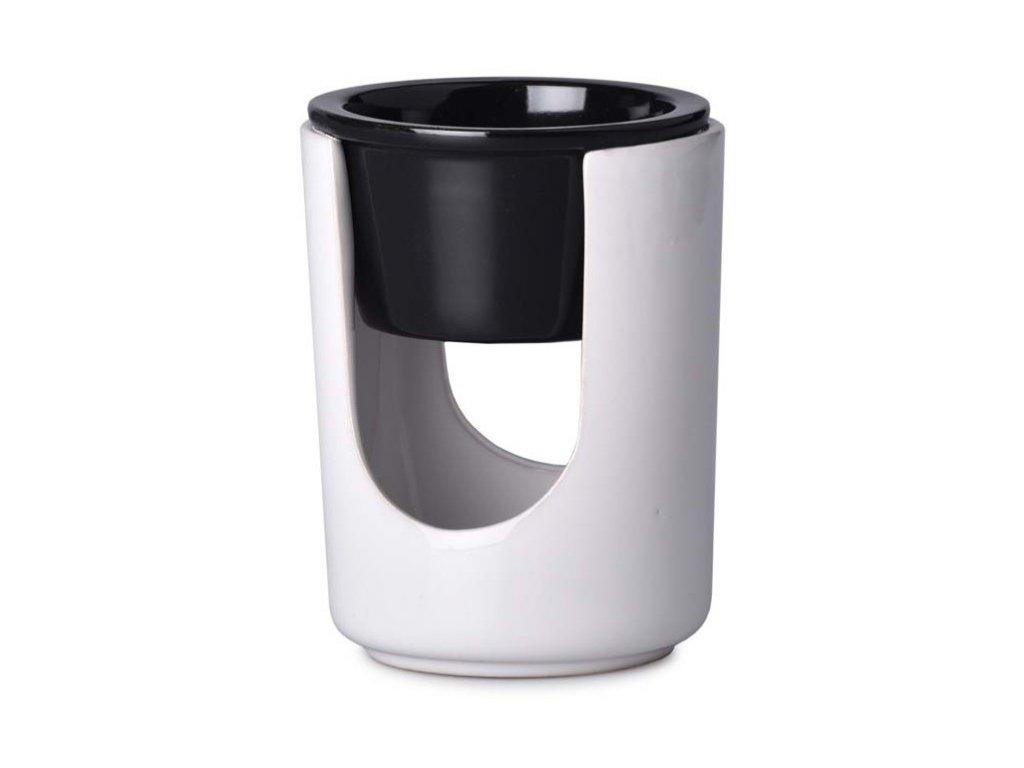 Aromalampa keramická 89x111mm, bílo černá