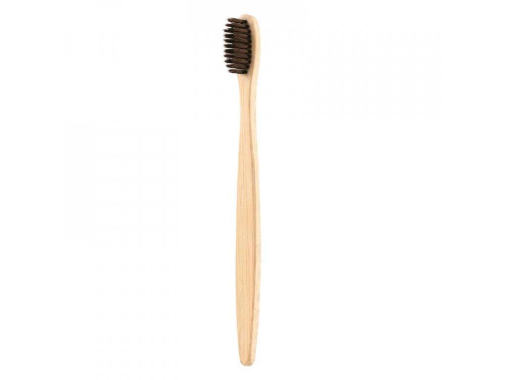 Bambusový zubní kartáček hnědý