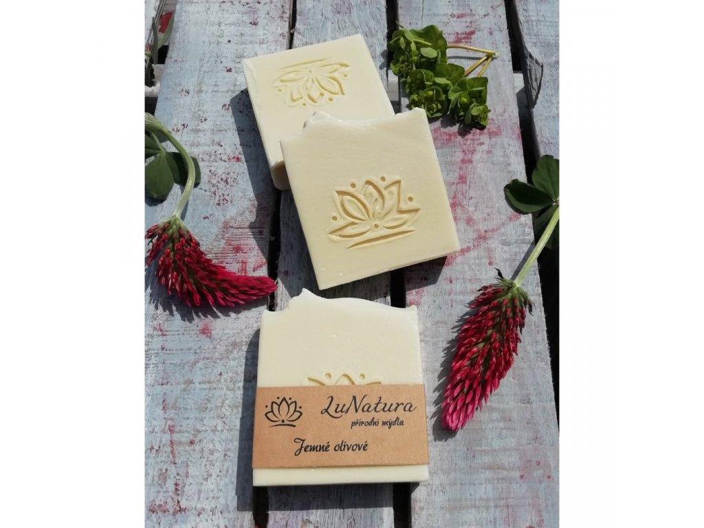 LuNatura Jemné olivové přírodní mýdlo 110g