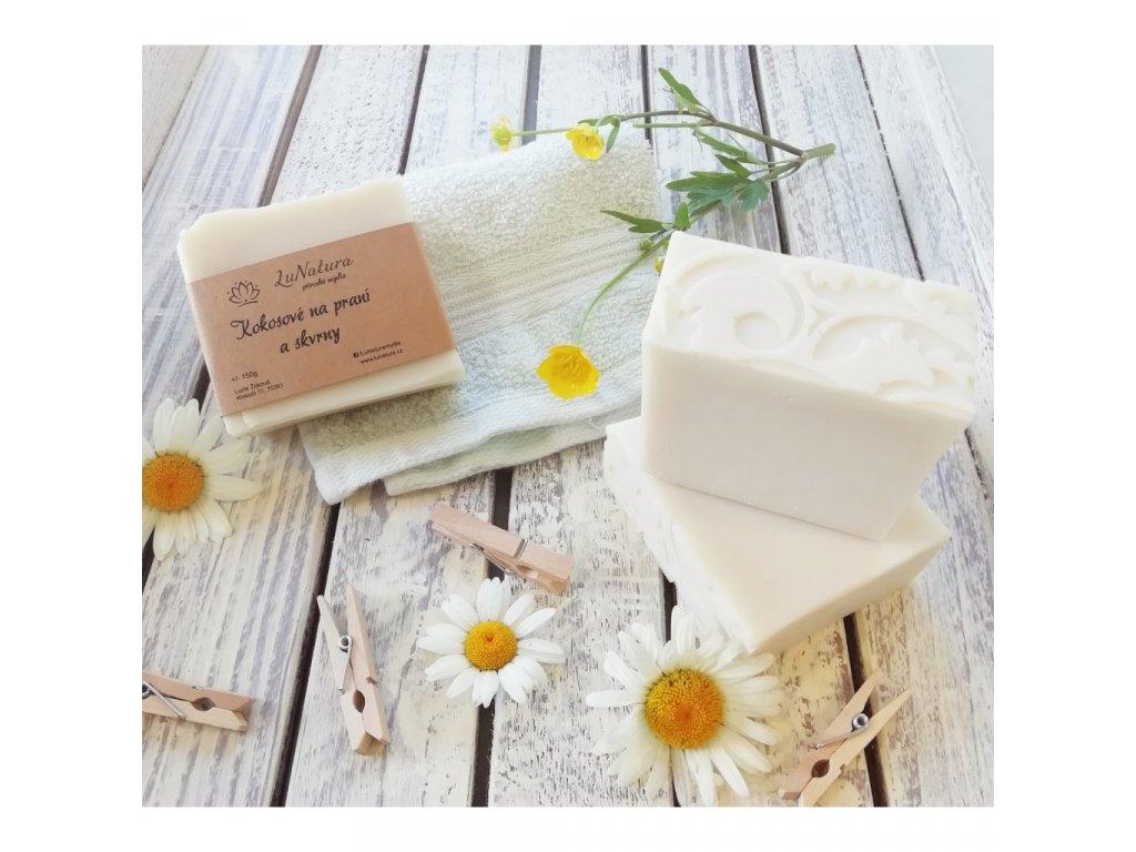 LuNatura Kokosové přírodní mýdlo na praní a skvrny 150g