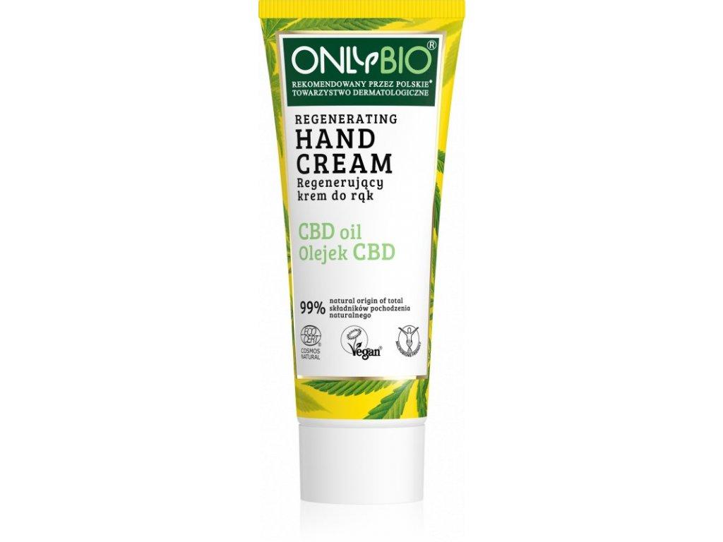 OnlyBio Regenerační krém na ruce s konopím a CBD olejem 75 ml