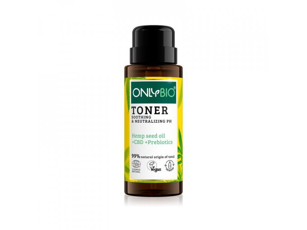 OnlyBio Zklidňující tonikum pro citlivou pleť s konopím a CBD olejem 300 ml