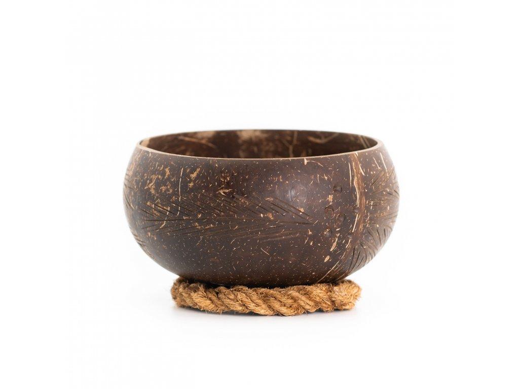 Kokosová miska Aloha s  kroužkem z kokosového lana