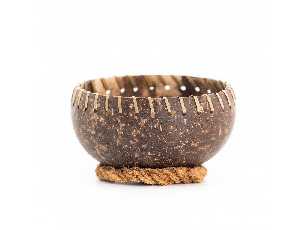 Kokosová miska Gudrun se stabilizačním kroužkem