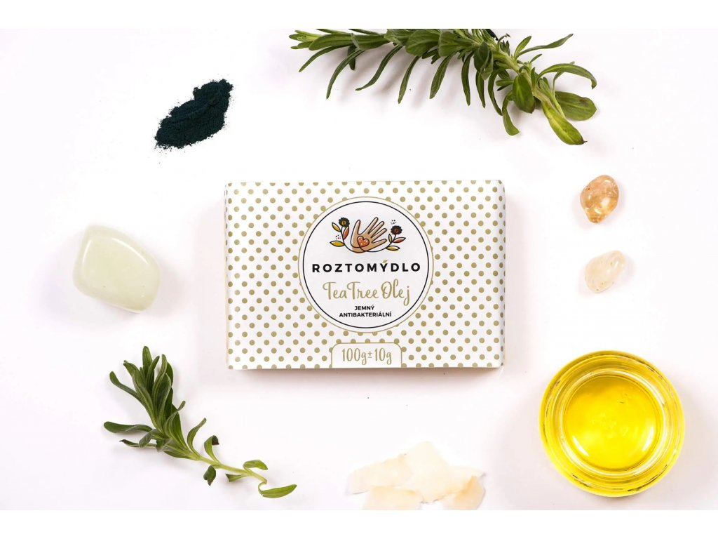 Roztomydlo Přírodní mýdlo s tea tree olejem 110 g - bez obalu