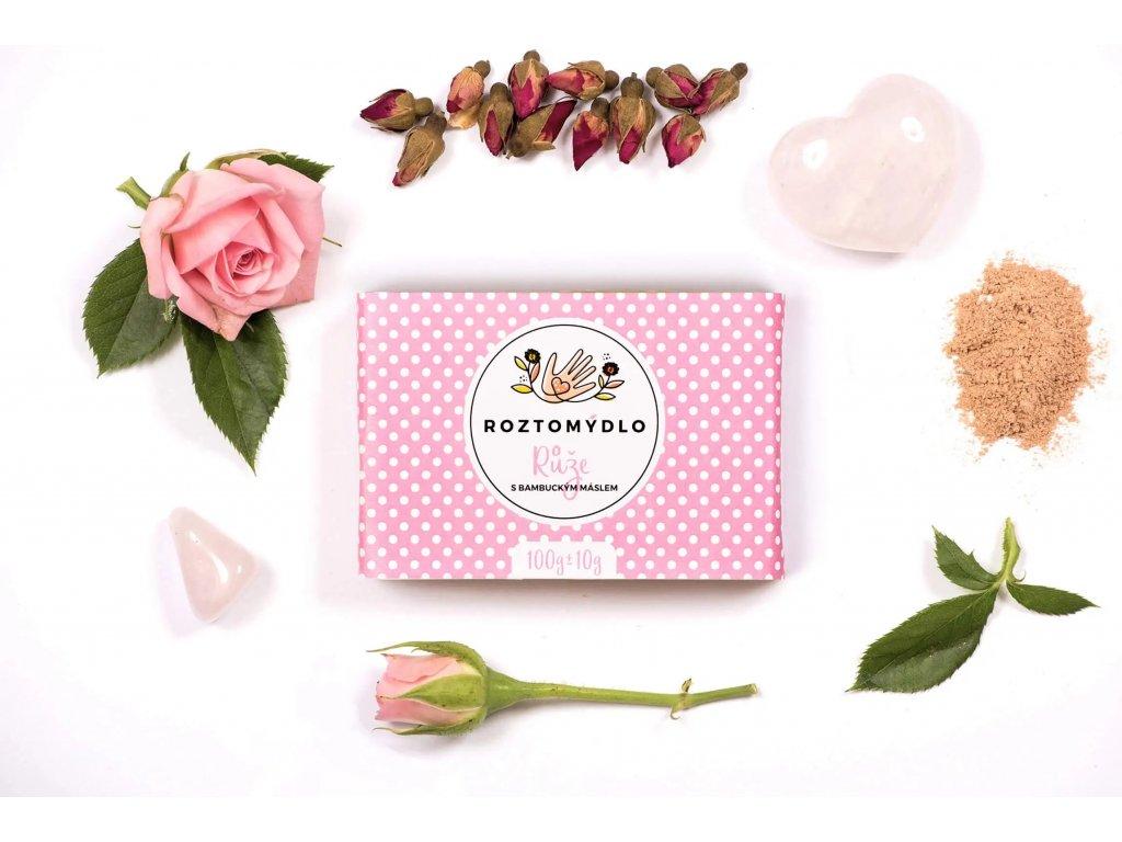 Roztomydlo Přírodní růžové mýdlo 110 g - bez obalu