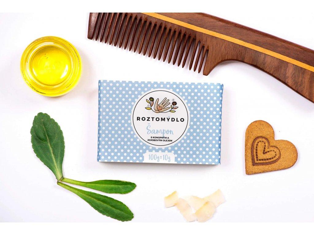 Roztomydlo Přírodní šampónové mýdlo 110 g - bez obalu