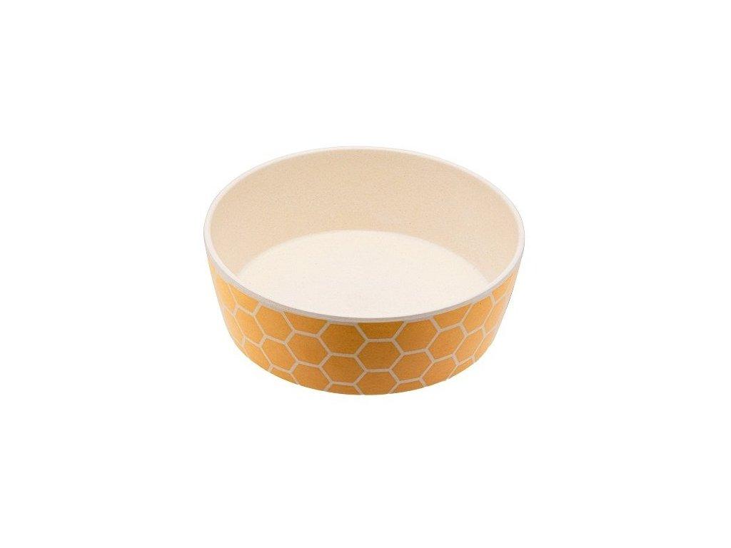 BecoBowl Bambusová miska pro psy Honeycomb S