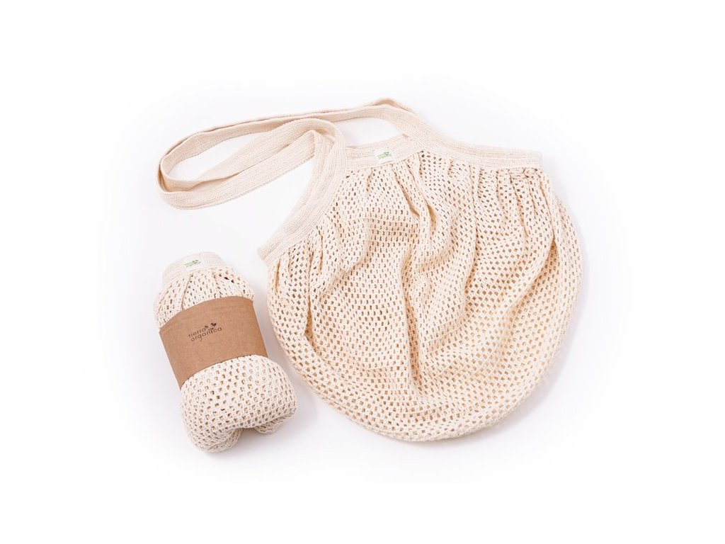 Casa Organica Síťovinová taška s drobnými oky - natural