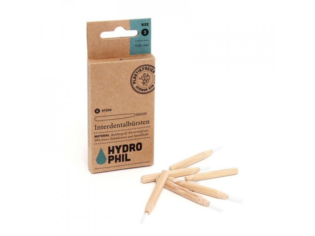Hydrophil Bambusový mezizubní kartáček, 6 ks - 0,60 mm