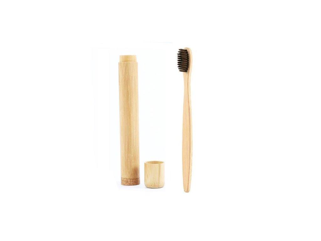 Bambusový zubní kartáček + cestovní pouzdro