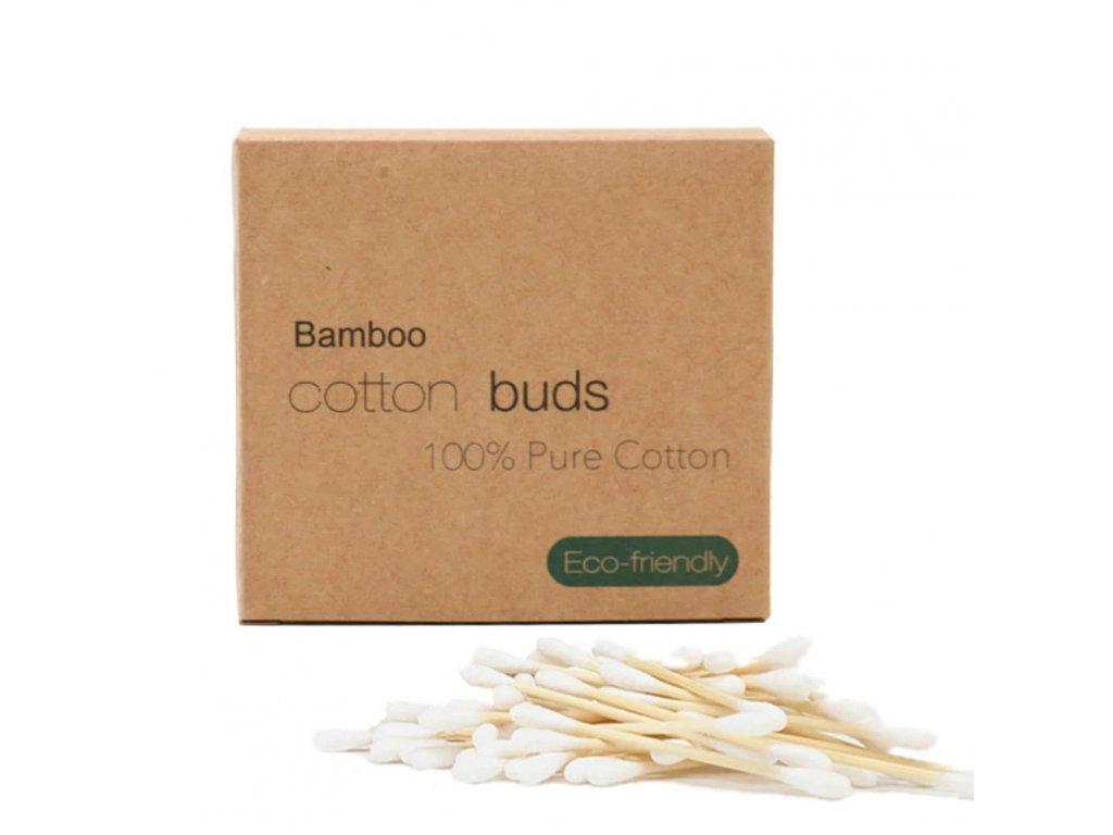 Vatové tyčinky do uší (100 ks) z bavlny a bambusu
