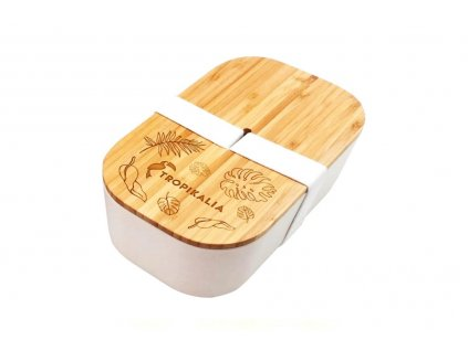 Tropikalia Lunch Box ECO | bílá