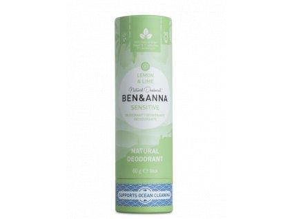 Ben & Anna Tuhý deodorant Sensitive (60 g) | Citrón a limetka
