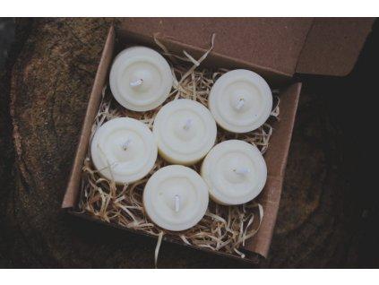 Čajové svíčky ze sojového vosku (10 ks)