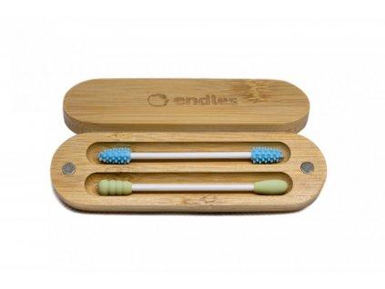 Endles Znovupoužitelné tyčinky do uší a na make-up (2 ks)