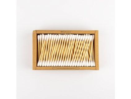 Vatové tyčinky do uší z bavlny a bambusu 200 ks