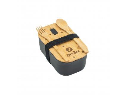 ZeroBox Lunch box s příborem | černá