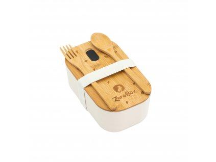 ZeroBox Lunch box s příborem | bílá