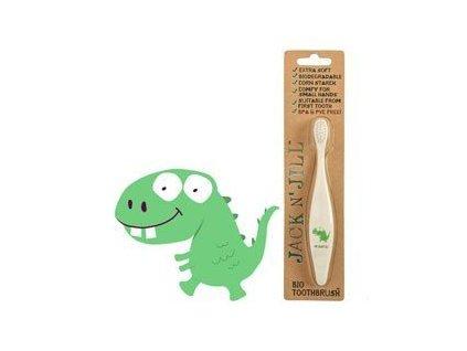 Jack n' Jill Dětský zubní kartáček Dino