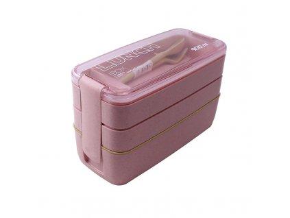 Lunch box 900 ml | růžový