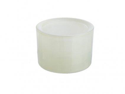 Svícen sklo 57x83mm slonová kost na mal./velkou čajovou svíčku