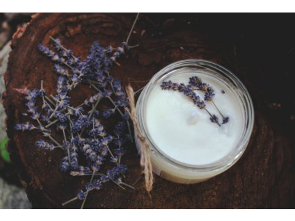 Sojová svíčka ve skle 200 ml | Levandule