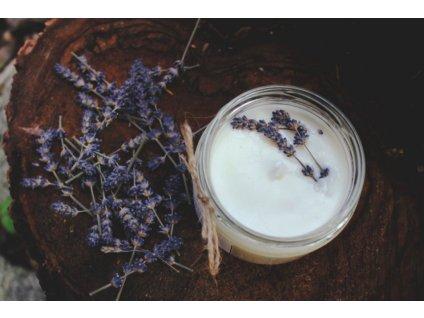Sojová svíčka ve skle 50 ml | Levandule