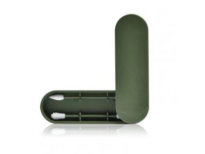 Obojstranné znovupoužitelné silikonové tyčinky zelená