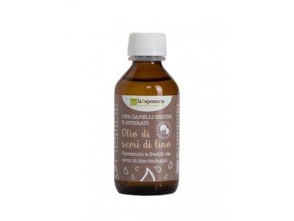 laSaponaria Lněný vlasový olej za studena lisovaný BIO 100 ml