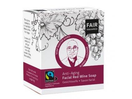 Fair Squared Tuhé čisticí pleťové mýdlo s čer. vínem BIO (2 x 80 g)