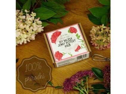 DIY set Essential: Jemný pleťový krém - růže