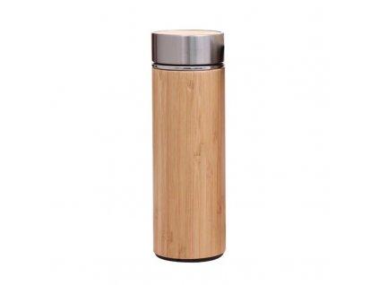 Designová bambusová termo láhev s difuzérem 450 ml