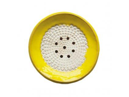 Keramická mýdlenka kulatá | žlutá