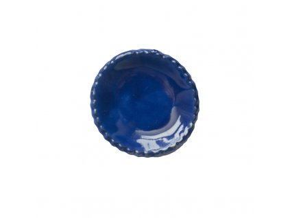 Keramická miska   modrá lesklá