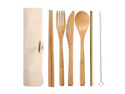 Příborová sada z bambusu KOMPLET