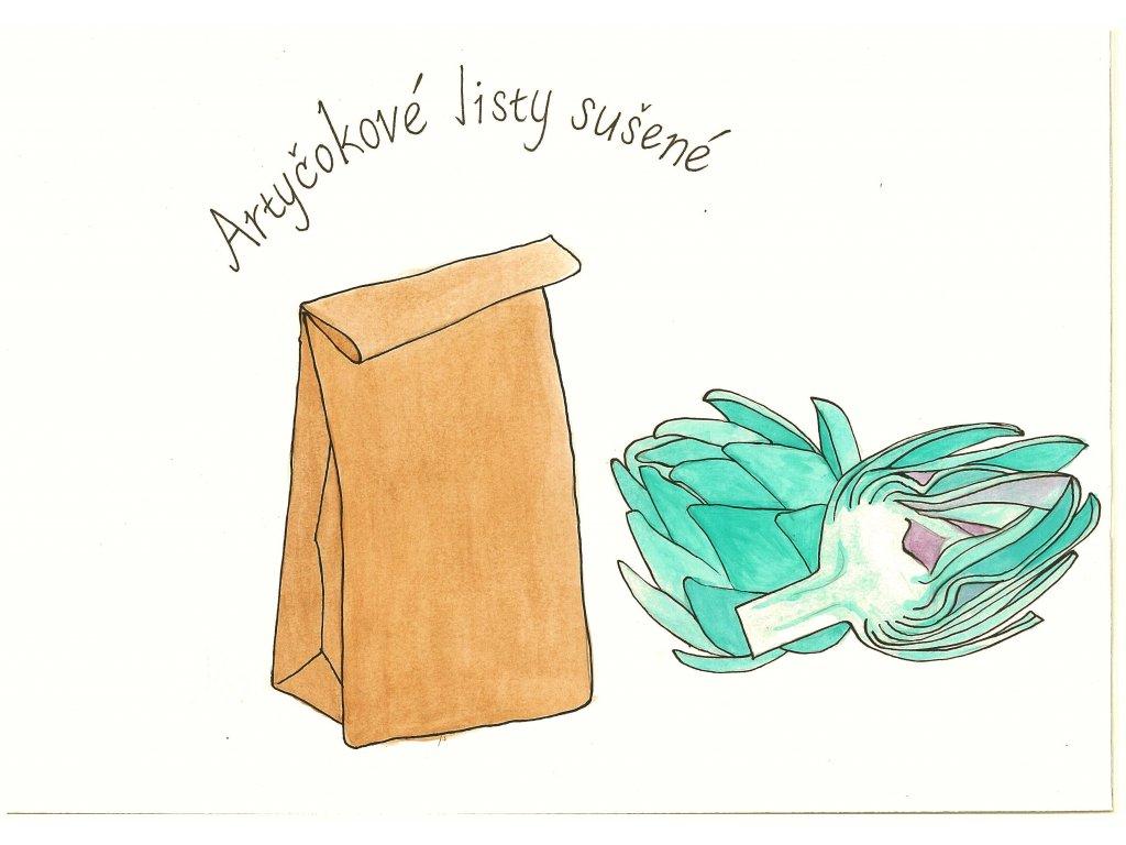Artyčokové listy sušené