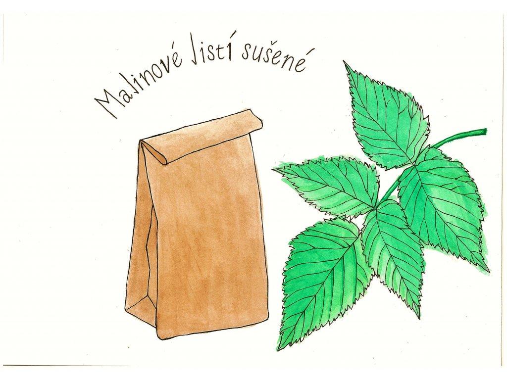 Malinové listí sušené