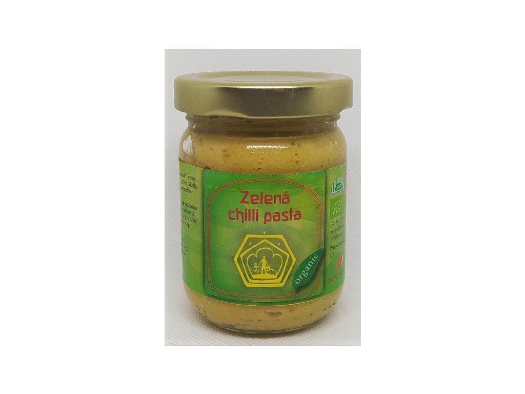 zelená chilli pasta