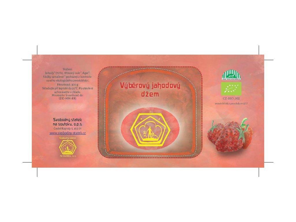 Džem výběrový jahodový 49%