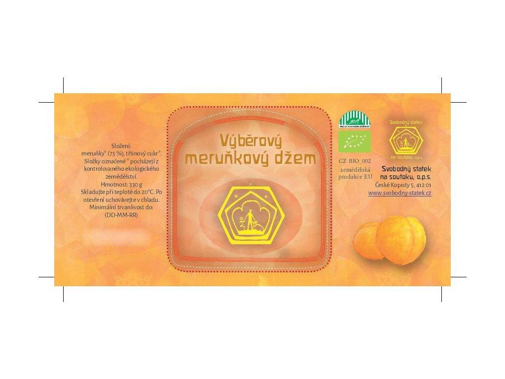 Džem výběrový meruňkový 71%