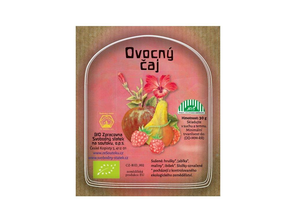 ovocný čaj etiketa obrázek