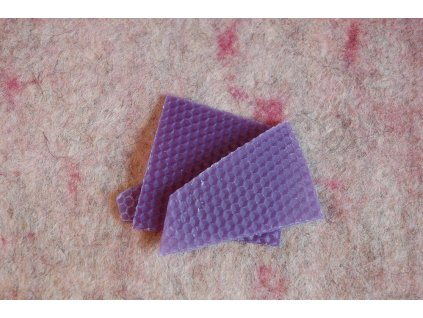 Vosk fialový odřezky