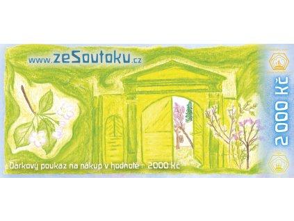 Dárkový poukaz 2000 bez orezu