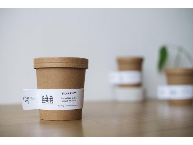 organic herbal tea packaging minimal design forest rhoeco